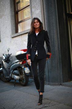 Emanuelle Alt, 15 street style photos from Milan Fashion Week #MFW