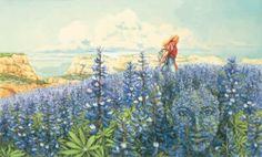 Blue Flowers  Bev Doolittle