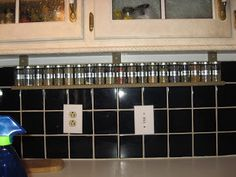 Christy's Thrifty Decorating: Space Under Your Kitchen Cabinets....