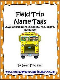 Now your students will look extra adorable when they are on a field trip wearing these name tags! Use the different colors to help you group your students. Available in green, yellow, red, black, and purple. Field Trip Permission Slip, Back To School, School Stuff, Name Tags, Classroom Management, Classroom Ideas, Polka Dots, Students, Field Trips