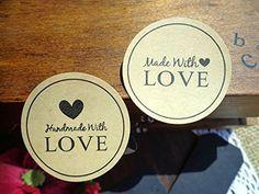 """36 x """"Made with Love + Handmade with love"""" Aufkleber/Stickers für Card-Making / Geschenkverpackungen Weihnachten Lau&Home http://www.amazon.de/dp/B00PCO4I5C/ref=cm_sw_r_pi_dp_m4Hnwb1FQ0A9N"""