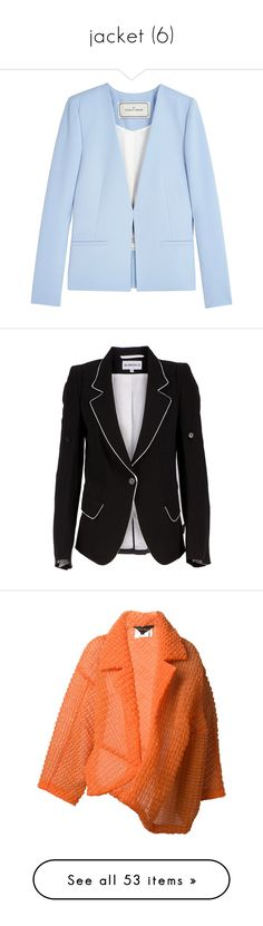 """jacket (6)"" by geniusmermaid ❤ liked on Polyvore featuring outerwear, jackets, blazers, tops, blazer jacket, blue blazer, blue jackets, blue blazer jacket, by malene birger and blazer"
