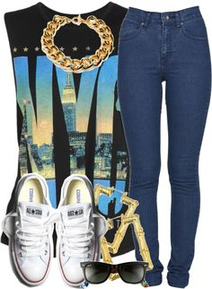 """n.y.c"" by livelifefreelyy <span class=""EmojiInput mj40"" title=""Heavy Black Heart""></span> liked on Polyvore"