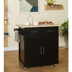 Shop for Simple Living Malibu Modern Rolling Kitchen Island. Get free shipping at Overstock.com - Your Online Kitchen