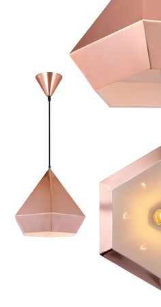 Hang this shiny beauty from your ceiling and watch your room light up. Featuring a sleek, modern hexagonal shape and a slick copper tone, we especially picture this pendant hanging in style in the kitc...  Find the Finisterre Ceiling Lamp in Copper, as seen in the #Mysteriously Modern Collection at http://dotandbo.com/collections/mysteriouslymodern?utm_source=pinterest&utm_medium=organic&db_sku=DBI9101-CPR