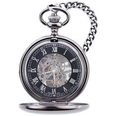 Gunmetal Mechanical Pocket Watch for the groomsmen or the Fathers of the happy couple.
