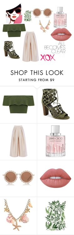 """""""Başlıksız #4"""" by betulx on Polyvore featuring moda, WearAll, G by Guess, Jimmy Choo, House of Holland, Lime Crime, GALA, GetTheLook ve summerstyle"""