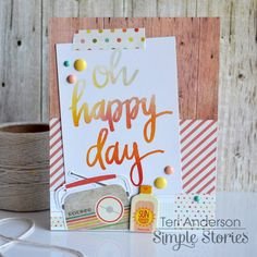 Oh Happy Day - Scrapbook.com - Made with Simple Stories Summer Vibes collection