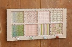 Window Pane With Cork Board Inserts (Use for Americana decor? Window Pane Decor, Window Art, Window Ideas, Window Panes, Reclaimed Windows, Recycled Windows, Vintage Windows, Old Windows, Old Window Projects