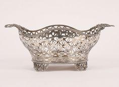 William Comyns English Sterling Silver Basket, 1905.