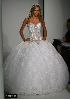 Pnina Tornai Lace Ball Gown