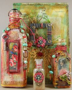 Altered Art bottles