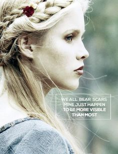 "The Vampire Diaries, The Originals Rebekah ""We all bear scars, mine just happen to be more visible than most"" The Vampires Diaries, Vampire Diaries Quotes, Vampire Diaries The Originals, Vampire Diaries Rebekah, Celaena Sardothien, Stefan Salvatore, Paul Wesley, Tvd Quotes, Movie Quotes"