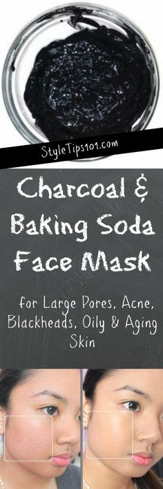 Charcoal and Baking Soda Face Mask