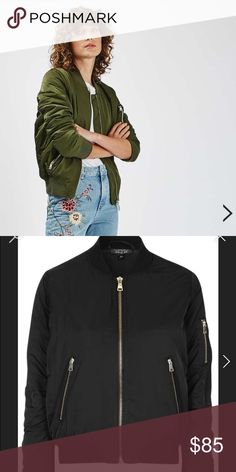 TOPSHOP MA1 Bomber Jacket Gently used in Black Topshop Jackets & Coats