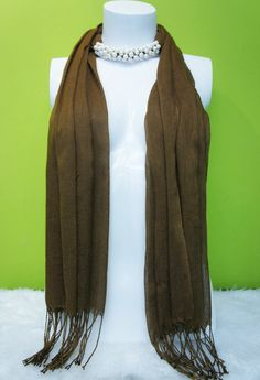 Fashion Scarf decorated with Freshwater Pearl