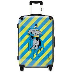 iKase 'Batman Multicolor Background' 24-inch Fashion Hardside Spinner Suitcase