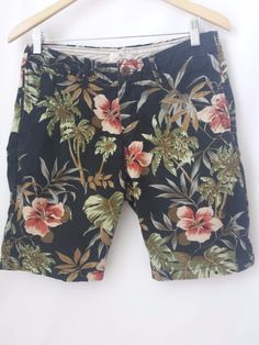 Scotch & Soda Men's Shorts Size 30 Hawaiian Print - Amsterdam Couture #ScotchSoda #CasualShorts