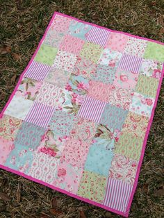 Cottage Baby Quilt shabby chic patchwork quilt by CozyByChristine, $65.00 - THIS IS THE ONE!!