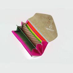 ビビットレザー ウォレット ピンク 【Vivid Long Wallet Pink】