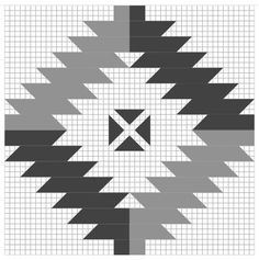 NAVAHO (2) FULL GRID - Antique Geometric Quilt Designs