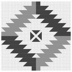 NAVAHO (2) FULL GRID - Antique Geometric Quilt Designs