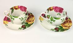 Royal Albert Country Rose Lot 2 Tea Cups & Saucers Lot 2 Fine China Porcelain New Best Value Royal Tea, Royal Albert, Christmas Cookie Cutters, Country Rose, Tea Cup Saucer, Fine China, China Porcelain, Xmas Gifts, Tea Pots