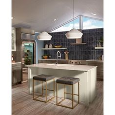 Kitchen Lighting Remodel Brummel Grande Pendant by Tech Lighting Kitchen Decor, Small Kitchen, Kitchen, Kitchen Design, Kitchen Trends, Kitchen Remodel Trends, Kitchen Remodel, Kitchen Design Trends, Contemporary Kitchen