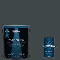BEHR MARQUEE 1-gal. #730F-7 Black Sable Satin Enamel Exterior Paint