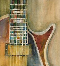 Gibson Electric Guitar Art Print