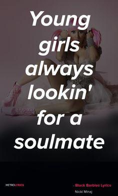 「女の子たちがいつも探しているのは、ソウルメイト」Nicki Minaj - Black Barbies #NickiMinaj #BlackBarbies #RAP #Quotes #lyricQuotes #lyrics