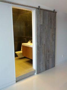 Timber door colour and floating bathroom floor