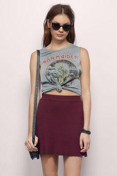bce3567d2590 Drucilla Knitted Skater Skirt Trendy Fashion