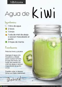 Hábitos Health Coaching | AGUA DE KIWI  Pinterest | https://pinterest.com/elcocinillas