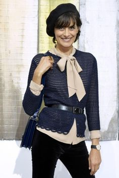 Ines de la Fressange , I dont wear all hats when I'm trap in the cities! But a beret for Fall is sweet.