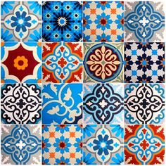 Tiles from Portugal, for the kitchen. Via Designtegels.lovely array of tiles! Inspiration Wand, Design Inspiration, Tile Art, Mosaic Tiles, Tiling, Tile Patterns, Textures Patterns, Tile Design, Pattern Design