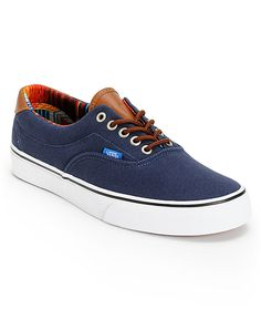 e823f3bffc With the Vans Era 59 Dress Blue and Multi Stripe shoes instantly improve  your style with