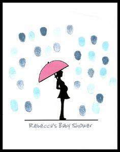 Baby Shower Thumbprint & Fingerprint Guest Book / Tree