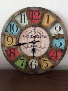 Resultado de imagen para relojes retro de colores de pared