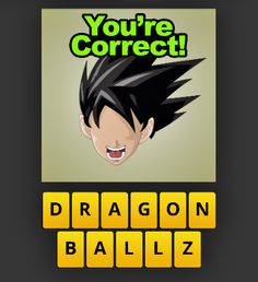 So I was just playing a game I had on my phone and I was supposed to guess the show, there was no spaces or inserts to separate the z from ball