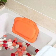 ShungHo Super Soft Luxury Bathroom Spa Bath Pillow Relax With Suction cup *** Check this awesome product by going to the link at the image.