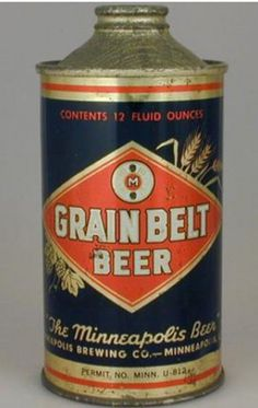 Grain Belt Beer Can from Minneapolis Brewing Co.