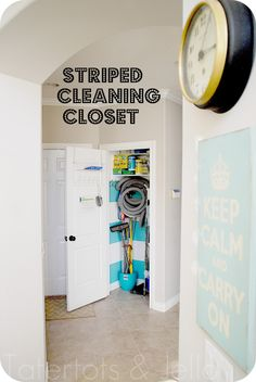 striped cleaning closet header