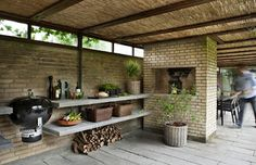 Ideal outdoor kitchen space -- simple, charming, rustic