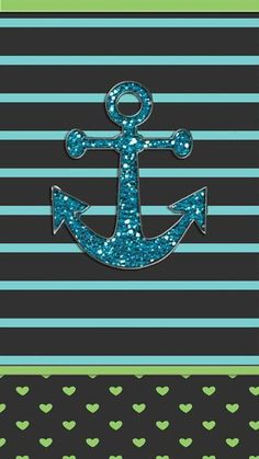 By Artist Unknown. Phone Screen Wallpaper, Wallpaper Iphone Cute, Cellphone Wallpaper, Mobile Wallpaper, Wallpaper Backgrounds, Iphone Backgrounds, Coastal Wallpaper, Nautical Wallpaper, Anchor Wallpaper