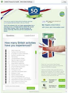 Find out your score by ticking off all the British activities you've experienced and share it with your friends!