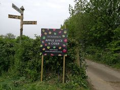 Our sign at the entrance to the orchard