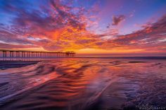 Wow! Look at this stunning sunset last night at the Scripps Pier! San Diego sure is blessed with amazing sunsets! Beautiful shot by Alex Baltov Phtography