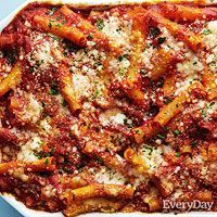 Three Cheese Baked Ziti - make using leftovers from Meat Loaf Dinner