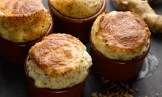 Yotam Ottolenghi's Jerusalem artichoke and goat's cheese soufflé: Tastes as good as it sounds. Photograph: Colin Campbell for the Guardian